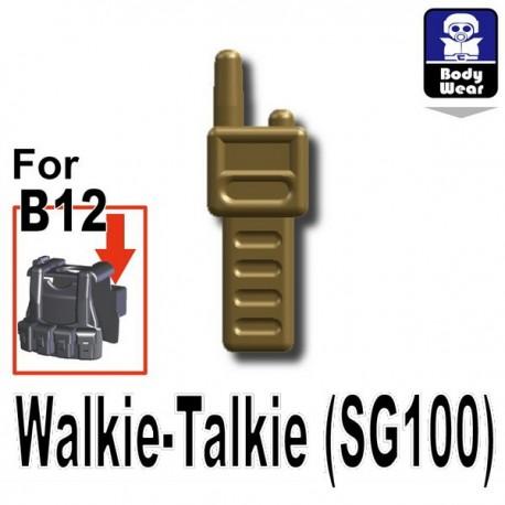Lego Accessoires Minifig Custom SIDAN TOYS Talkie-Walkie (SG100) (Dark Tan) (La Petite Brique)