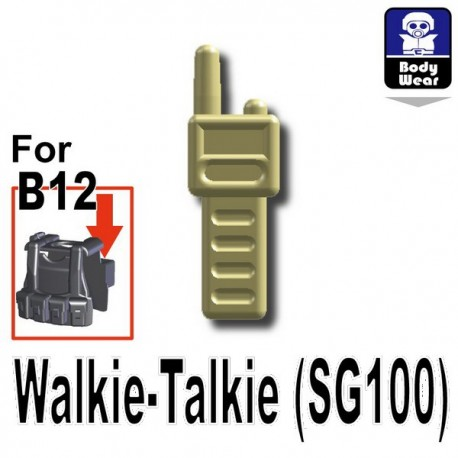 Lego Accessoires Minifig Custom SIDAN TOYS Talkie-Walkie (SG100) (Tan) (La Petite Brique)