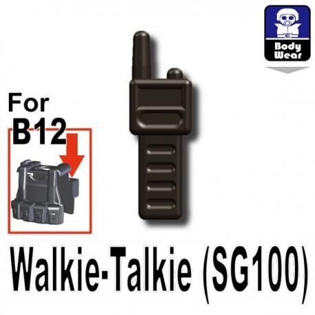 Lego Accessoires Minifig Custom SIDAN TOYS Talkie-Walkie (SG100) (Pearl Dark Black) (La Petite Brique)