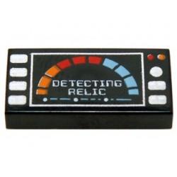Lego Accessoires Minifig Detecting Relic - Tile 1x2 (noir) (La Petite Brique)