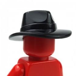 Black Minifig, Headgear Hat, Wide Brim Outback Style (Fedora)