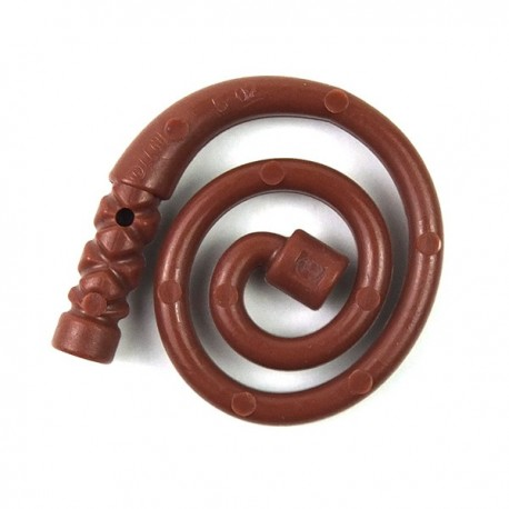 Reddish Brown Minifig, Weapon Whip Coiled