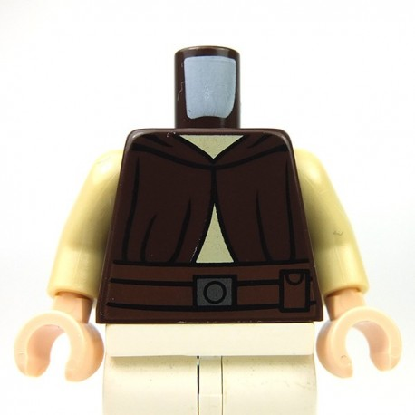 Lego Accessoires Minifig Torse Ki-Adi-Mundi (Dark Brown) (La Petite Brique)