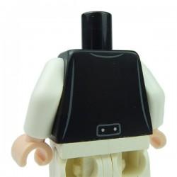 Lego Accessoires Minifig Torse - gilet 3 boutons, noeud papillon (noir) (La Petite Brique)