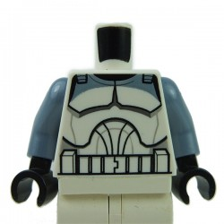 Torso SW Wolfpack Clone Trooper, Sand Blue Arms, Black Hands