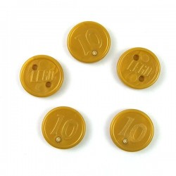 5 Pearl Gold Coins with 10 Mark