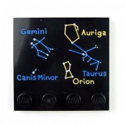Lego Accessoires Minifig Tableau Constellations - Tile 4x4 (noir) (La Petite Brique)