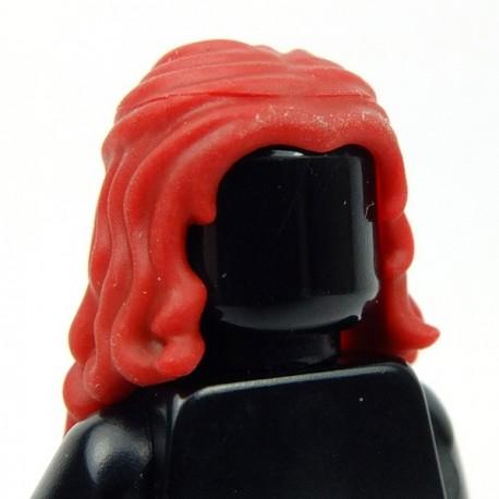 Lego Accessoires Minifig Cheveux Longs ondulés (Dark Red) (La Petite Brique)
