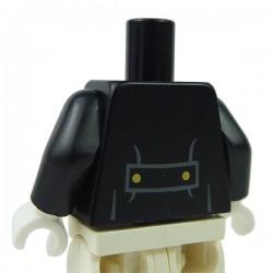 Lego Accessoires Minifig Torse - Veste avec gilet rouge foncé (noir) (La Petite Brique)