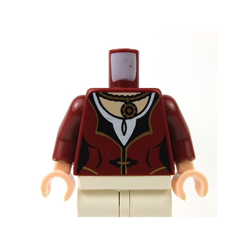 Lego Acessories Minifig Dark Red Dress With Gold Amp Black