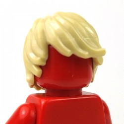 Tan Minifig, Headgear Hair Tousled with Side Part