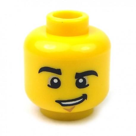 Lego Accessoires Minifig Tête masculine jaune, 57 (La Petite Brique)