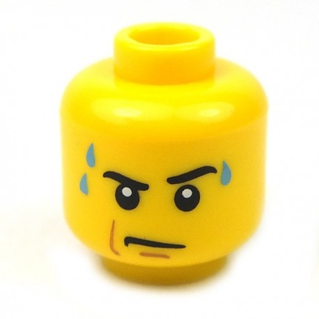 Lego Accessoires Minifig Tête masculine jaune, 59 (La Petite Brique)