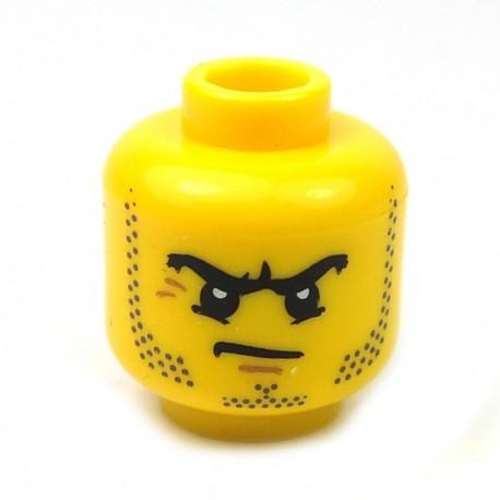 Lego Accessoires Minifig Tête masculine jaune, 62 (La Petite Brique)