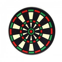 Black Tile, Round 2 x 2 with Dart Board