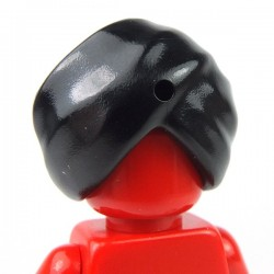 Black Minifig, Headgear Turban with hole