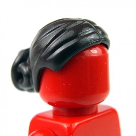 Lego Accessoires Minifig Cheveux femme avec noeud complexe Bun (marron foncé) (La Petite Brique)