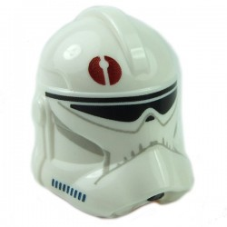 White Helmet SW Clone Trooper Dark Red Emblem
