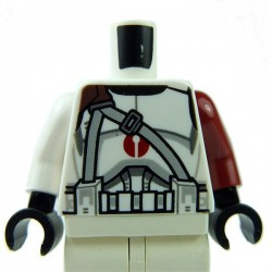 Lego Accessoires Minifig Torse Star Wars Clone Trooper Dark Red Center Emblem (La Petite Brique)
