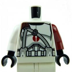 Lego Accessoires Minifig Torse Star Wars Clone Trooper Dark Red Center Emblem (La Petite Brique)