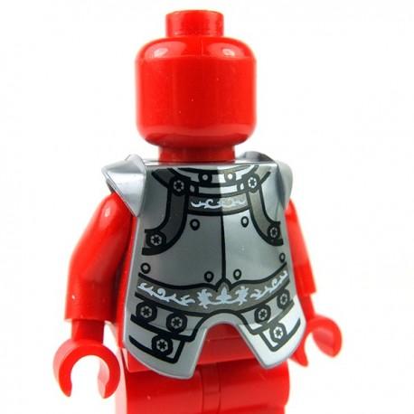 Lego Accessoires Minifig Armure pectorale (Flat Silver + impression) (La Petite Brique)
