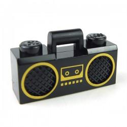 Lego Accessoires Minifig Radio Boom Box (Noir) (La Petite Brique)