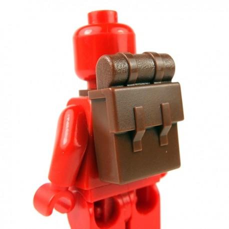 Lego Accessoires Minifig Sac à dos (Reddish Brown) (La Petite Brique)