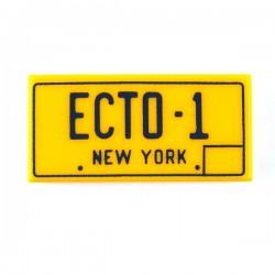 Lego Accessoires Minifig Ghostbusters Ecto-1 New York - Tile 1x2 (Jaune) (La Petite Brique)