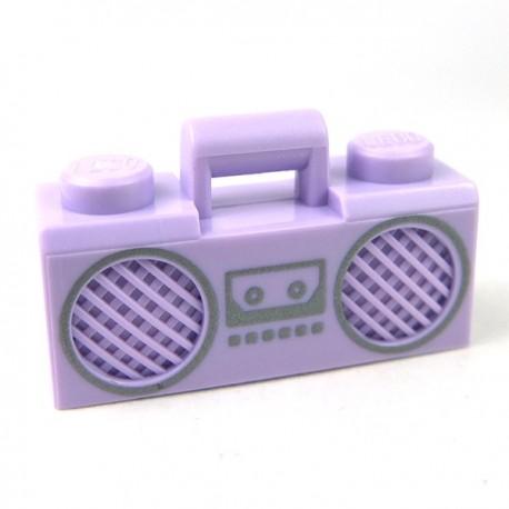 Lego Accessoires Minifig Radio Boom Box (Lavande) (La Petite Brique)