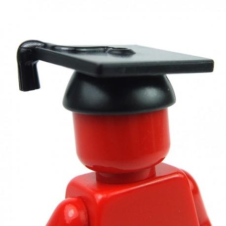 Lego Accessoires Minifig Chapeau Lauréat (noir) (La Petite Brique)