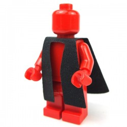 Black Minifig, Robe Cloth, Split in Front - Graduation Gown