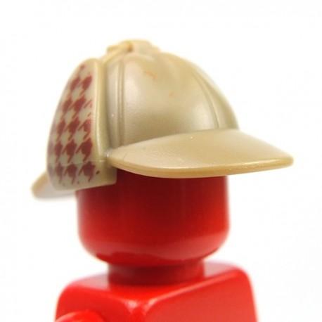 Lego Accessoires Couvre chef pied-de-poule avec oreillettes (Dark Tan) (La Petite Brique)