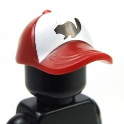 Lego Accessoires Minifig Casquette avec raton (Dark Red) (La Petite Brique)