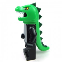 Costume Mask Lizard and Tail (Bright Green)