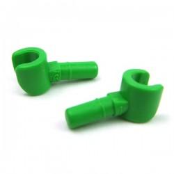 Lego Accessoires Minifig Minifig, Mains (Bright Green) (La Petite Brique)