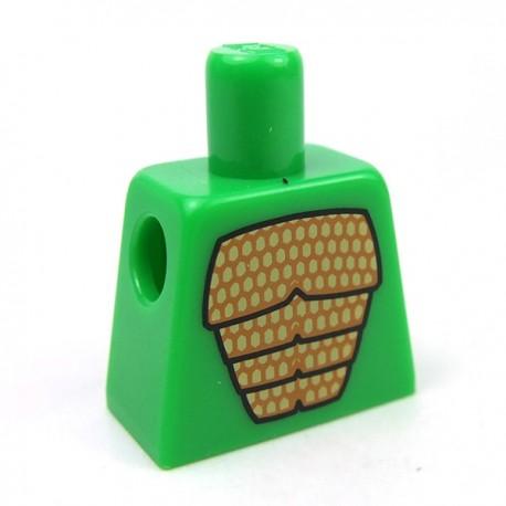 Lego Accessoires Minifig Torse - Lézard (Bright Green) (La Petite Brique)