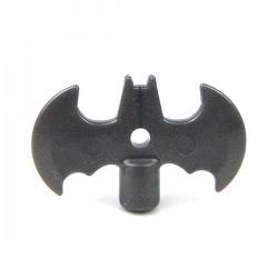 Lego Accessoires Minifig Custom SIDAN TOYS Batarang (Iron Black) (La Petite Brique)
