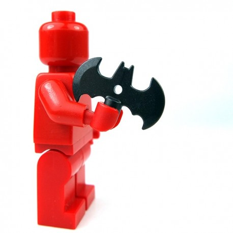 Lego Accessoires Minifig Custom SIDAN TOYS Batarang (Pearl Dark Black) (La Petite Brique)