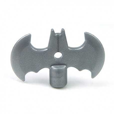 Lego Accessoires Minifig Custom SIDAN TOYS Batarang (Light Silver) (La Petite Brique)