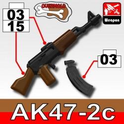 Lego Accessoires Minifig Custom SIDAN TOYS AK47/2C (Black/Brown) + KA1 (Black) (La Petite Brique)
