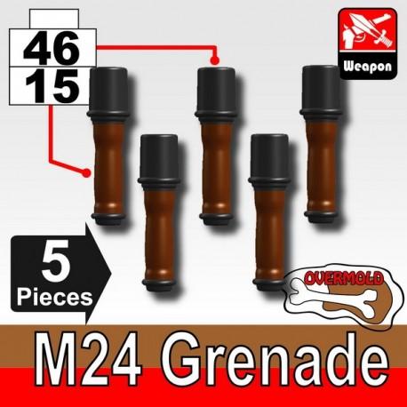 Lego Accessoires Minifig Custom SIDAN TOYS Grenade M24X5 (Pearl Dark Black/Brown) (La Petite Brique)