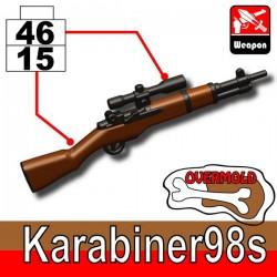 Lego Accessoires Minifig Custom SIDAN TOYS Karabiner98s (Pearl Dark Black/Brown) (La Petite Brique)