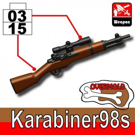 Lego Accessoires Minifig Custom SIDAN TOYS Karabiner98s (Black/Brown) (La Petite Brique)