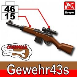 Lego Accessoires Minifig Custom SIDAN TOYS Gewehr43s (Pearl Dark Black/Brown) (La Petite Brique)