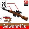 Lego Accessoires Minifig Custom SIDAN TOYS Gewehr43s (Black/Brown) (La Petite Brique)