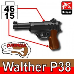Walther P38 (Pearl Dark Black/Brown)