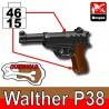 Lego Accessoires Minifig Custom SIDAN TOYS Walther P38 (Pearl Dark Black/Brown) (La Petite Brique)