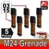 Lego Accessoires Minifig Custom SIDAN TOYS Grenade M24X5 (Black/Brown) (La Petite Brique)