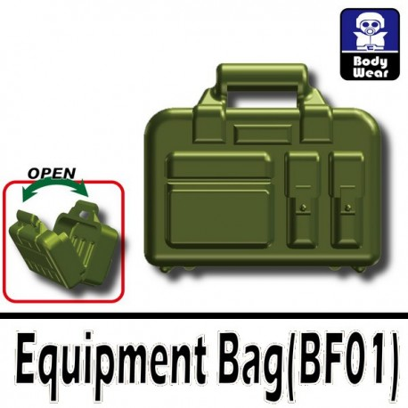 Lego Accessoires Minifig Custom SIDAN TOYS Valise (Vert militaire) (La Petite Brique)