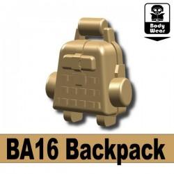 Lego Accessoires Minifig Custom SIDAN TOYS Sac à dos BA16 (Dark Tan) (La Petite Brique)